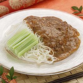 稲庭うどんの ジャージャー麺