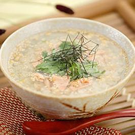 稲庭うどんの麺がゆ茶漬風